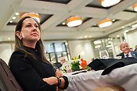Lancement de la Semaine Mode de Montréal, lundi le 13 septembre 2021, au Centre Sheraton, en présence de :<br /> Michel Leblanc, président et chef de la direction de la Chambre de commerce du Montréal métropolitain, de<br /> Debbie Zakaib, directrice générale, mmode - la Grappe métropolitaine de la mode, de<br /> David Bensadoun, président-directeur général, Groupe ALDO,  de<br /> Sophie Boulanger, présidente-directrice générale et cofondatrice, BonLook<br /> <br /> PHOTO :  Agence Québec Presse - Philippe Manh Nguyen<br /> <br /> <br /> Déjeuner-causerie pour marquer le lancement de la Semaine Mode de Montréal 2021