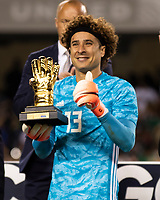 CHICAGO, IL - JULY 7: Jonathan Orozco #1 is given the golden glove award during a game between Mexico and USMNT at Soldier Field on July 7, 2019 in Chicago, Illinois.