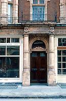 London: Doorway, Mayfair 1887. Mount St. near Berkeley Square.