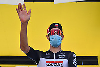 5th September 2020, Grand Colombier, France;  DE GENDT Thomas (BEL) of LOTTO SOUDAL during stage 8 of the 107th edition of the 2020 Tour de France cycling race, a stage of 140 kms with start in Cazeres-sur-Garonne and finish in Loudenvielle
