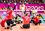 Jesse Buckkingham, Jesse Ward, Bryce Foster and Doug Learoyd, Lima 2019 - Sitting Volleyball // Volleyball assis.<br />