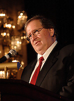 may 3rd 2006, Montreal (Qc) CANADA<br /> Louis Gignac, president and chief executive of Cambior Inc., speaks to shareholders.<br /> Cambior Inc. earns $9.1 million US in Q1 net profit<br /> Photo : Images Distribution