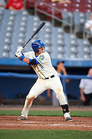 Hartford Yard Goats third baseman Pat Valaika (10) at bat during the second game of a doubleheader against the Trenton Thunder on June 1, 2016 at Sen. Thomas J. Dodd Memorial Stadium in Norwich, Connecticut.  Trenton defeated Hartford 2-1.  (Mike Janes/Four Seam Images)