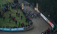 race start<br /> <br /> U23 Men's race<br /> UCI CX World Cup Namur / Belgium 2017