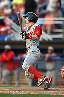 Lowell Spinners outfielder Danny Mars (39) at bat during a game against the Batavia Muckdogs on July 18, 2014 at Dwyer Stadium in Batavia, New York.  Lowell defeated Batavia 11-2.  (Mike Janes/Four Seam Images)