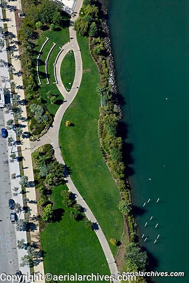Aerial photograph Mission Bay Mission Creek park, San Francisco, California