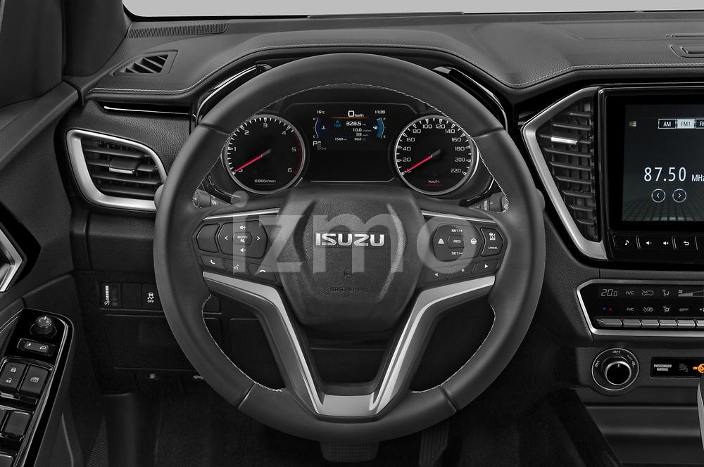 Car pictures of steering wheel view of a 2021 Isuzu D-Max V-Cross 4 Door Pick-up Steering Wheel
