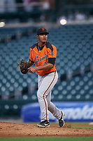 AZL Giants Orange starting pitcher Jesus Gomez (82) during an Arizona League game against the AZL Cubs 1 on July 10, 2019 at Sloan Park in Mesa, Arizona. The AZL Giants Orange defeated the AZL Cubs 1 13-8. (Zachary Lucy/Four Seam Images)
