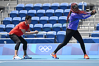 20th July 2021, TOKYO, JAPAN:  Osaka Naomi of Japan attends a training session prior to the Tokyo 2020 Olympic Games at Ariake Tennis Park in Tokyo, Japan
