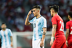 Paulo Dybala of Argentina gestures during the International Test match between Argentina and Singapore at National Stadium on June 13, 2017 in Singapore. Photo by Marcio Rodrigo Machado / Power Sport Images