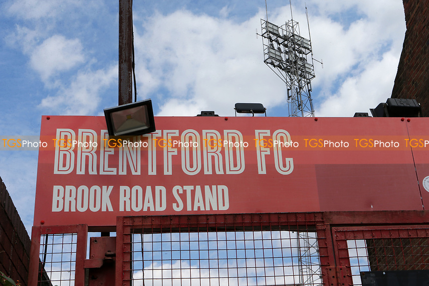 General view of the Brook Road Stand entrance at Brentford FC during Brentford vs Barnsley, Sky Bet EFL Championship Football at Griffin Park on 22nd July 2020