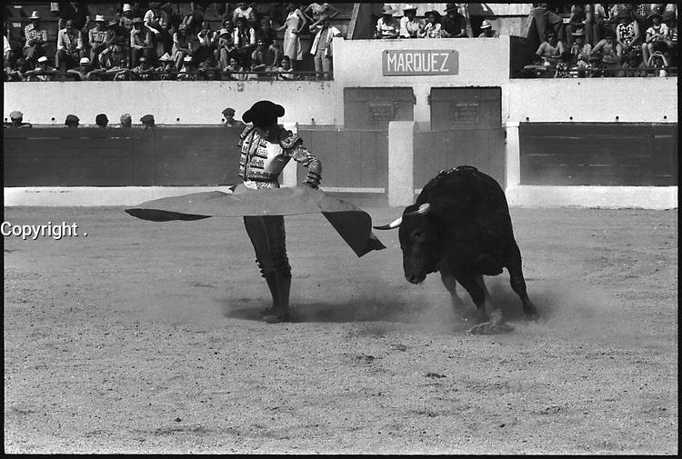 13 Juin 1976. Vue de la corrida de Marquez dans les arènes de Toulouse.
