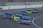 NASCAR Camping World Truck Series<br /> Las Vegas 350<br /> Las Vegas Motor Speedway, Las Vegas, NV USA<br /> Saturday 30 September 2017<br /> Christopher Bell, DC Solar Toyota Tundra, Matt Crafton, Rip It/ Menards Toyota Tundra and Chase Briscoe, Cooper Standard Ford F150<br /> World Copyright: Russell LaBounty<br /> LAT Images