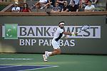 Nikoloz Basilashvili (GEO) defeated Taylor Fritz (USA) 7-6 (7-5), 6-3, at the BNP Paribas Open being played at Indian Wells Tennis Garden in Indian Wells, California on October 16,2021: ©Karla Kinne/Tennisclix/CSM