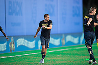 LAKE BUENA VISTA, FL - JULY 20: Alejandro Bedoya #11 of the Philadelphia Union warming up during a game between Orlando City SC and Philadelphia Union at Wide World of Sports on July 20, 2020 in Lake Buena Vista, Florida.