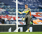 18.3.2021 Rangers v Slavia Prague: Allan McGregor limbering up for another night of European action