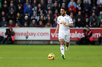 Pictured: Neil Taylor Saturday 10 January 2015<br /> Re: Barclays Premier League, Swansea City FC v West Ham United at the Liberty Stadium, south Wales, UK