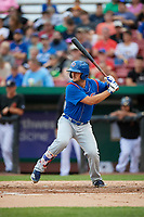 South Bend Cubs first baseman Austin Upshaw (16) at bat during a game against the Kane County Cougars on July 21, 2018 at Northwestern Medicine Field in Geneva, Illinois.  South Bend defeated Kane County 4-2.  (Mike Janes/Four Seam Images)