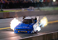 Sep 13, 2019; Mohnton, PA, USA; NHRA funny car driver Tommy Johnson Jr during the Reading Nationals at Maple Grove Raceway. Mandatory Credit: Mark J. Rebilas-USA TODAY Sports
