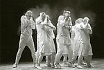 MAY B (créé le 4 novembre 1981 au Théâtre Municipal d'Angers)..1h24<br /> <br /> Chorégraphie : MARIN Maguy<br /> Compositeur : Franz Schubert, Gilles de Binche, Gavin Bryars<br /> Compagnie : Compagnie Maguy Marin<br /> Lumiere : Pierre Colomer<br /> Costumes : Louise Marin<br /> Decors :<br /> Avec : Luna Bloomfield, Mireille Campioni, Christiane Glik,..Anne Golea, Lia Rodriguez, Daniel Ambash, Pierre Fabris, Mychel Lecoq, Mathias Pons et Tomeo Verges<br /> Lieu : Theatre Jean Vilar<br /> Cadre : <br /> Ville : Suresnes<br /> Le : 19/11/1994..<br /> © Laurent PAILLIER<br /> All Rights reserved