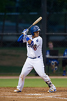AZL Dodgers catcher Jair Camargo (8) at bat against the AZL Brewers on July 25, 2017 at Camelback Ranch in Glendale, Arizona. AZL Dodgers defeated the AZL Brewers 8-3. (Zachary Lucy/Four Seam Images)