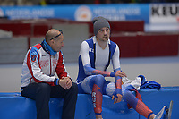 SPEEDSKATING: 22-11-2019 Tomaszów Mazowiecki (POL), ISU World Cup Arena Lodowa, 5000m Men Division A, Kosta Poltavets (trainer/coach RUS), Denis Yuskov (RUS), ©photo Martin de Jong