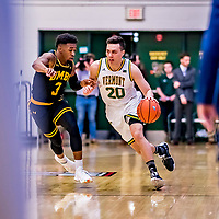 23 January 2019: University of Vermont Catamount Guard Ernie Duncan, a Redshirt Senior from Evansville, IN, in first half action against the UMBC Retrievers at Patrick Gymnasium in Burlington, Vermont. The Catamounts fell to the Retrievers 74-61 who handed the Cats their first America East loss of the season. Mandatory Credit: Ed Wolfstein Photo *** RAW (NEF) Image File Available ***