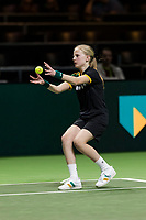 Rotterdam, The Netherlands, Ahoy, Tennis,<br /> ABNAMRO World Tennis Tournament, 13 Februari, 2018, Ballgirl caching a ball<br /> Photo: www.tennisimages.com
