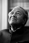 Mahathir Mohamad, Malaysia's former prime minister, poses for a portrait in his office in Purtrajaya, Malaysia.
