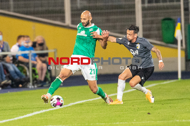 12.09.2020, Ernst-Abbe-Sportfeld, Jena, GER, DFB-Pokal, 1. Runde, FC Carl Zeiss Jena vs SV Werder Bremen<br /> <br /> <br /> Ömer / Oemer Toprak (Werder Bremen #21)<br /> <br />  <br /> <br /> <br /> Foto © nordphoto / Kokenge