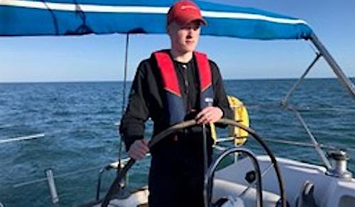 16-year old Malahide Yacht Club cadet, Daniel Flavin