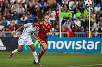 England's Nikita Parris Spain's Irene Paredes during the frendly match between woman teams of  Spain and England at Fernando Escartin Stadium in Guadalajara, Spain. October 25, 2016. (ALTERPHOTOS/Rodrigo Jimenez) /NORTEPHOTO.COM