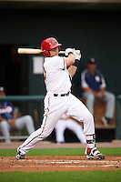 Harrisburg Senators catcher Spencer Kieboom (20) at bat during a game against the New Hampshire Fisher Cats on June 2, 2016 at FNB Field in Harrisburg, Pennsylvania.  New Hampshire defeated Harrisburg 2-1.  (Mike Janes/Four Seam Images)