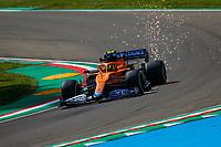 16th April 2021; Autodromo Enzo and Dino Ferrari, Imola, Italy; F1 Grand Prix of Emilia Romagna, Free Practise sessions;  NORRIS Lando (gbr), McLaren MCL35M