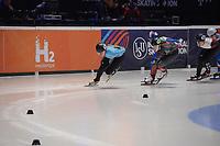 SPEEDSKATING: DORDRECHT: 05-03-2021, ISU World Short Track Speedskating Championships, QF 1500m Ladies, Hanne Desmet (BEL), Florence Brunelle (CAN), Nicole Mazur (POL), ©photo Martin de Jong