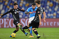 Andrea Petagna of SSC Napoli in action during the Italy Cup football match between SSC Napoli and Empoli FC at stadio Diego Armando Maradona in Napoli (Italy), January 13, 2021. <br /> Photo Cesare Purini / Insidefoto