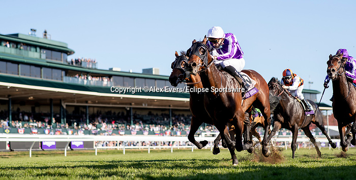 November 7, 2020 : Order of Australia, ridden by Pierre-Charles Boudot, wins the FanDuel Mile presented by PDJF on Breeders' Cup Championship Saturday at Keeneland Race Course in Lexington, Kentucky on November 7, 2020. Alex Evers/Breeders' Cup/Eclipse Sportswire/CSM