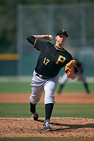Pittsburgh Pirates Dovydas Neverauskas (17) during a minor league Spring Training intrasquad game on April 3, 2016 at Pirate City in Bradenton, Florida.  (Mike Janes/Four Seam Images)