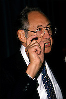 Montreal (Qc) CANADA - File Photo- circa 1988 - <br /> Alvin Toffler<br /> <br /> <br /> -Photo (c)  Images Distribution<br /> <br /> Montreal (Qc) CANADA - File Photo- circa 1988 - <br /> Alvin Toffler<br /> <br /> <br /> -Photo (c)  Images Distribution