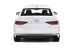 Straight rear view of a 2018 Audi A4 Premium 4 Door Sedan stock images