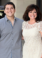06 October 2020 - Eddie Van Halen, legendary Hall of Fame Guitarist and co-founder of Van Halen -- has died after a long battle with throat cancer at the age of 65. File Photo: 22 August 2012 - Hollywood, California - Wolfgang Van Halen, Valerie Bertinelli. Valerie Bertinelli honored with Star on the Hollywood Walk of Fame. Photo Credit: Russ Elliot/AdMedia
