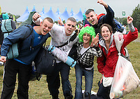 08/07/'10 Xan Flynn, Michael Kelleher, Clare Power, John Kelly and Ceara Collins all from Ballincollig, Cork pictured arriving at Punchestown, Co. Kildare this evening for the start of the Oxegen Festival 2010...Picture Colin Keegan, Collins, Dublin