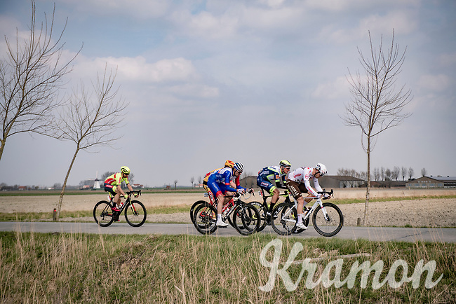 breakaway group rolling through De Moeren<br /> <br /> 45th Oxyclean Classic Brugge-De Panne 2021 (ME/1.UWT)<br /> 1 day race from Bruges to De Panne (204km)<br /> <br /> ©kramon