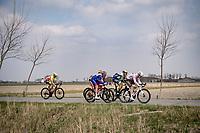 breakaway group rolling through De Moeren<br /> <br /> 45th Oxyclean Classic Brugge-De Panne 2021 (ME/1.UWT)<br /> 1 day race from Bruges to De Panne (204km)<br /> <br /> ©kramon