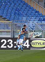 Football, Serie A: S.S. Lazio - Sampdoria, Olympic stadium, Rome, February 20, 2020. <br /> Lazio's Luis Alberto (in front of) celebrates after scoring with his teammate Joaquin Correa during the Italian Serie A football match between S.S. Lazio and Sampdoria at Rome's Olympic stadium, Rome, on February 20, 2021.  <br /> UPDATE IMAGES PRESS/Isabella Bonotto