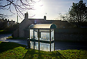 Bus shelter in the light in Stonesfield a Cotswold Village  CREDIT Geraint Lewis