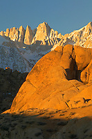 Alabama Hills sunrise with Mt. Whitney, California