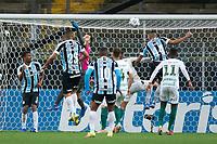 6th October 2021; Arena do Gremio, Porto Alegre, Brazil; Brazilian Serie A, Gremio versus Cuiaba; goalkeeper Walter of Cuiaba punches clear from a cross