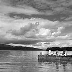 Adironadack Chairs on the dock. Mooshead Lake, ME.
