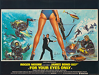 BNPS.co.uk (01202 558833)<br /> Pic: Lyon&Turnbull/BNPS<br /> <br /> Pictured: 'For Your Eyes Only' poster signed by Roger Moore, with an estimate of £1,000-£1,500.<br /> <br /> A collection of original James Bond posters featuring Roger Moore and Sean Connery could sell for a whopping £26,400.<br /> <br /> The set of 15 vintage posters include rare signed copies by Moore and highly desirable ones advertising Connery's earliest films.<br /> <br /> They depict classic icons spanning over 20 years of 007 history such as the 'gold lady' from Goldfinger, 1964, tipped to sell for £8000.